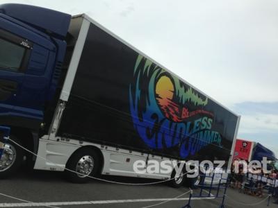 8/31ナゴヤドームで撮影してきた「B'z LIVE-GYM Pleasure 2013 -ENDLESS SUMMER-」のツアートラック写真まとめ。