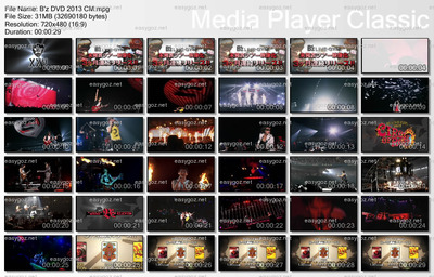B'z DVD「ACTION」「CIRCLE」「ELEVEN」テレビCM